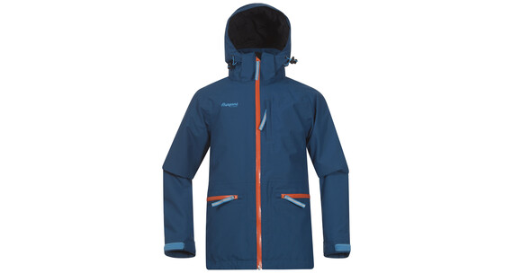 Bergans Youth Alme Insulated Jacket Dp Sea/Koi Orange/Br SeaBlue